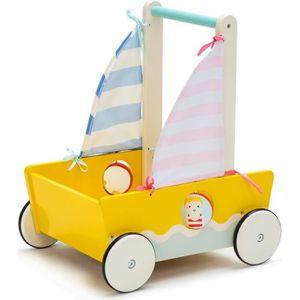 REMORQUE - CHARIOT Labebe Chariot Enfant, Camion de Pompiers Rouge Tr