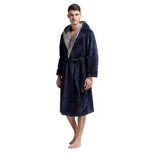 PEIGNOIR  1PCS Peignoir de bain à capuche Homme taille L