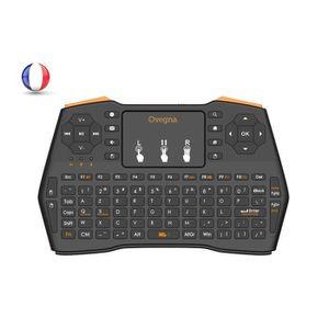 PACK CLAVIER - SOURIS Ovegna i8 Plus : Mini clavier 4 en 1,AZERTY, 2.4Gh