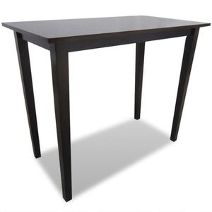 MANGE-DEBOUT Table de bar en bois Marron