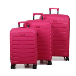 SET DE VALISES Ensemble 3 valises, Pylène robust II rose
