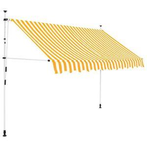 STORE - STORE BANNE  Auvent rétractable manuel 250 cm Rayures jaunes et