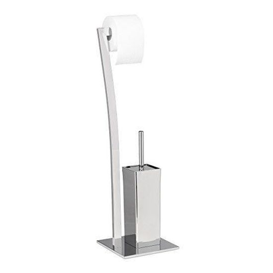 74 x 20 x 20 cm Relaxdays Porte-papier toilettes PIERRE sur pied socle en marbre HxlxP