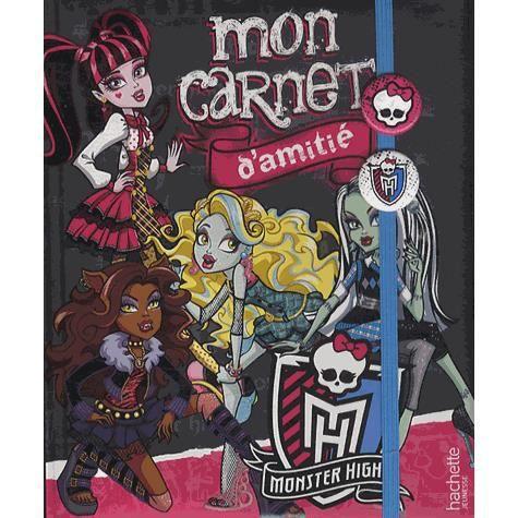 Mon carnet d'amitié Monster High