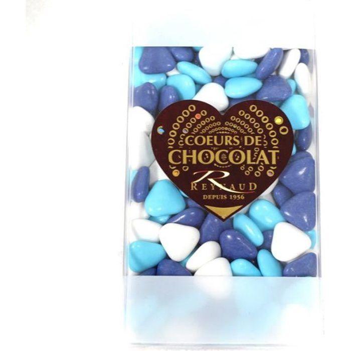 DRAGÉES PETIT COEUR BLANC CARAIBE MARINE Bleu, turquoise, ciel