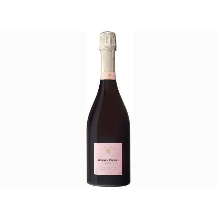 6 bouteilles - Champagne rose - Effervescent - CHAMPAGNE NICOLO & PARADIS Cuvée Rosé Rosé 6x75cl