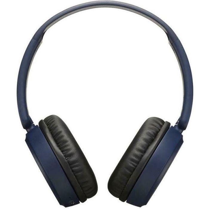 JVC HAS35BTAU Deep Bass Bluetooth On Ear Headphones│17 Hours of Listening│Blue
