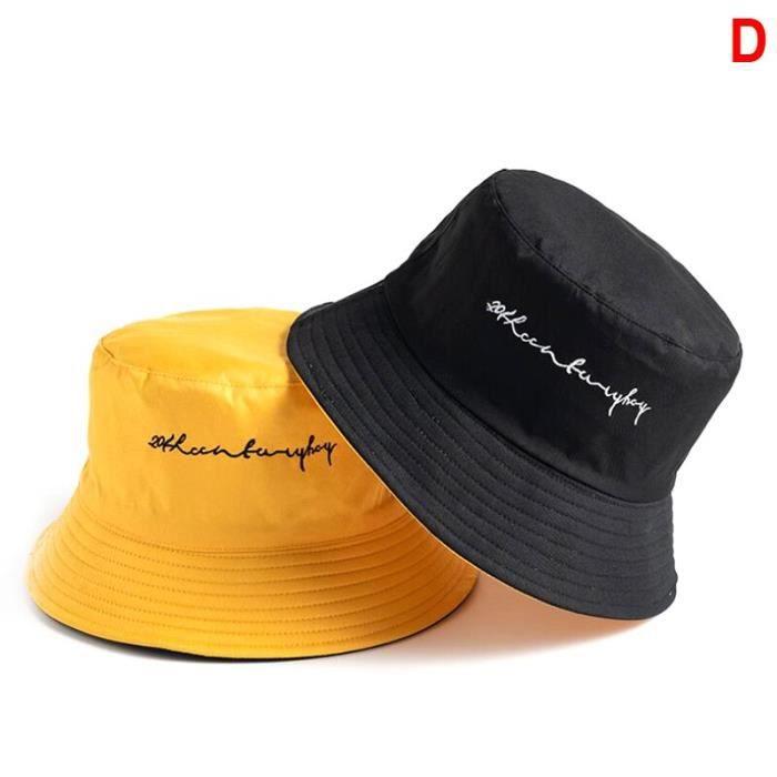 22 -Unisexe Harajuku seau chapeau pêche en plein air Hip Hop casquette hommes été pour pêcheur chapeau femmes os Feminino