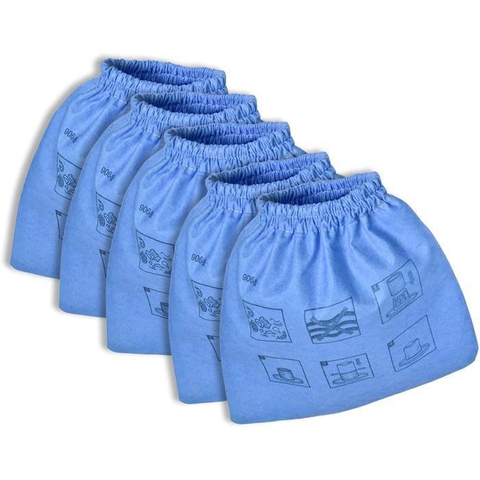SAC ASPIRATEUR INVEST Lot de 5 filtres textiles Parkside PNTS 1300 C3 A1 B2 12509 1250 Sac en tissu bleu Parkside PNTS Filtre 339