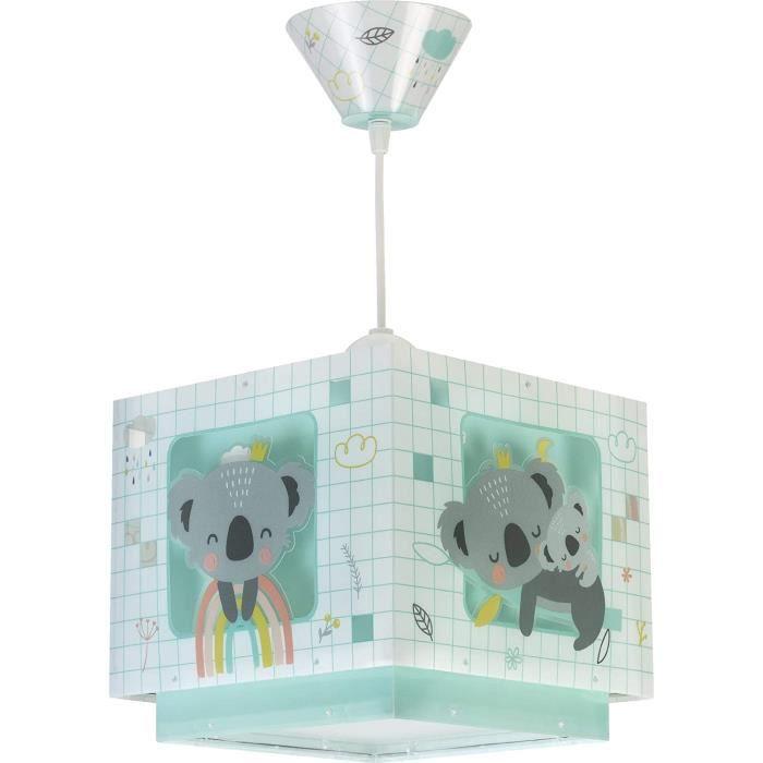 Dalber 63262H Lampe Suspendue Koala Vert, Polypropyl&egravene