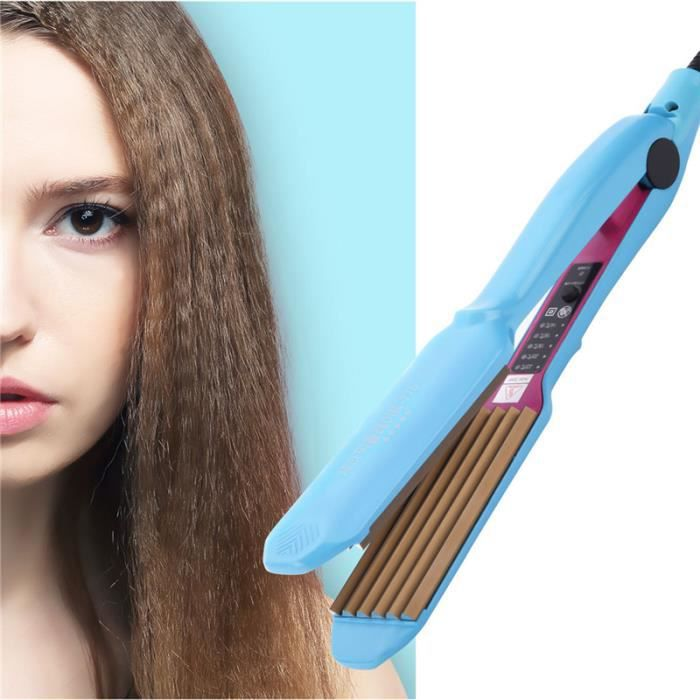CkeyiN Fer à gaufrer Fer à lisser à boucler Attelle Permis de maïs Fer à onduler Outil de coiffure-6