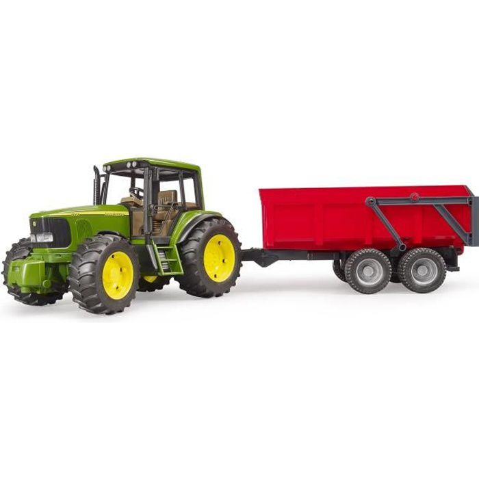 BRUDER - Tracteur JOHN DEERE 6920 avec remorque basculante
