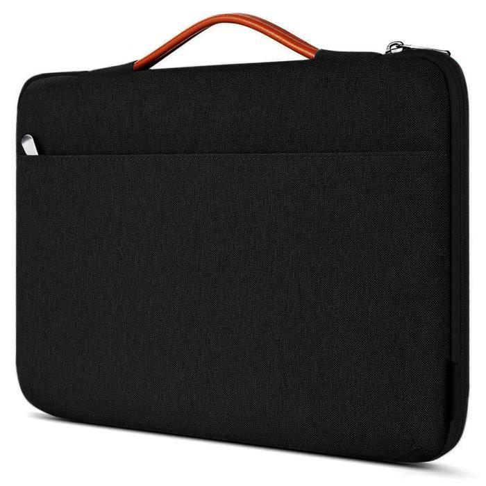 Sacoche de Protection et Transport (M-Noir-Orange) pour ordinateur Portable HP Envy x360 15,6-