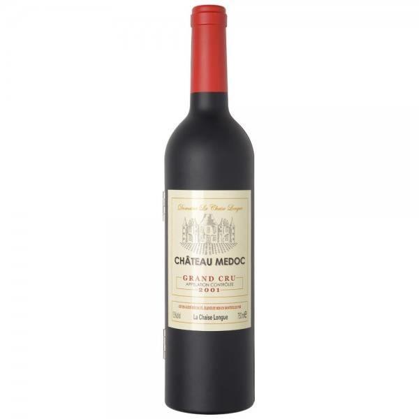 La Chaise Longue 33-2K-001G Coffret sommelier Bouteille de vin GM 5 accessoires vin Limonadier Bouchon universel et verseur Collier