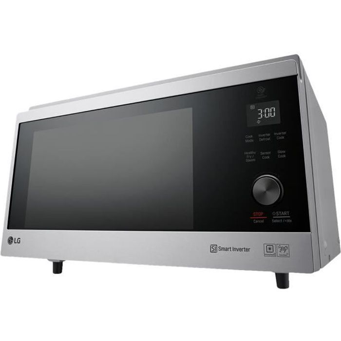 LG NeoChef MJ3965ACS Four micro-ondes combiné grill pose libre 39 litres 1100 Watt argent noble