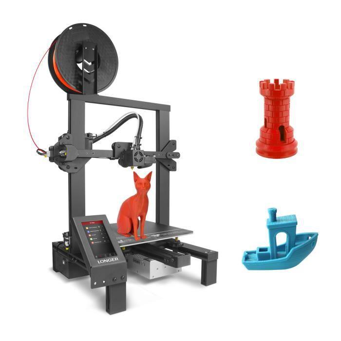 LONGER LK4 Pro Imprimante 3D FDM pré-assemblée à 90% avec écran tactile couleur de 4,3 pouces TMC2208 Détecteur de filament