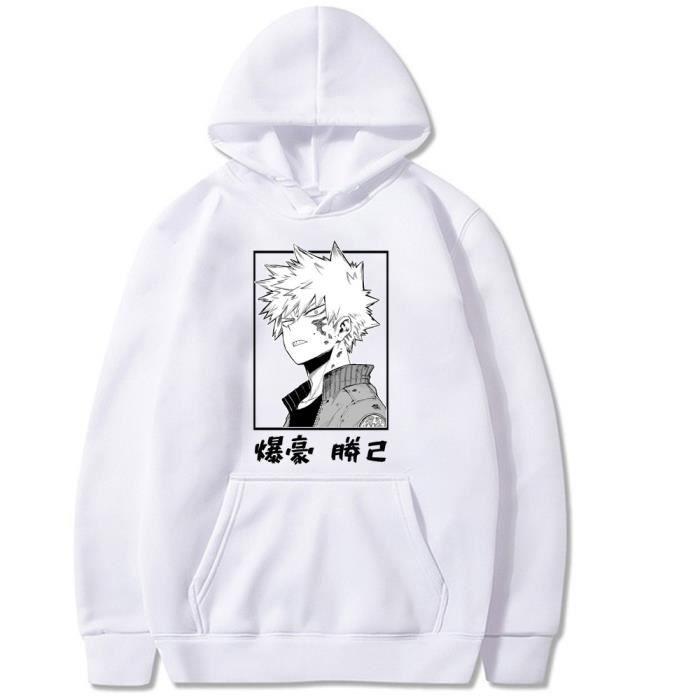 Sweats à Capuche My Hero Academia Cosplay Hisoka Unisexe pour Adulte Sweat-Shirts Jacket Sweats avec Poche Kangourou