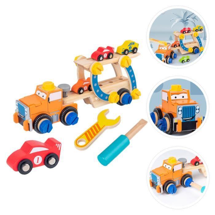 1 Ensemble de jouet de voiture en bois léger pour les enfants cereale-muesli,flocon petit dejeuner