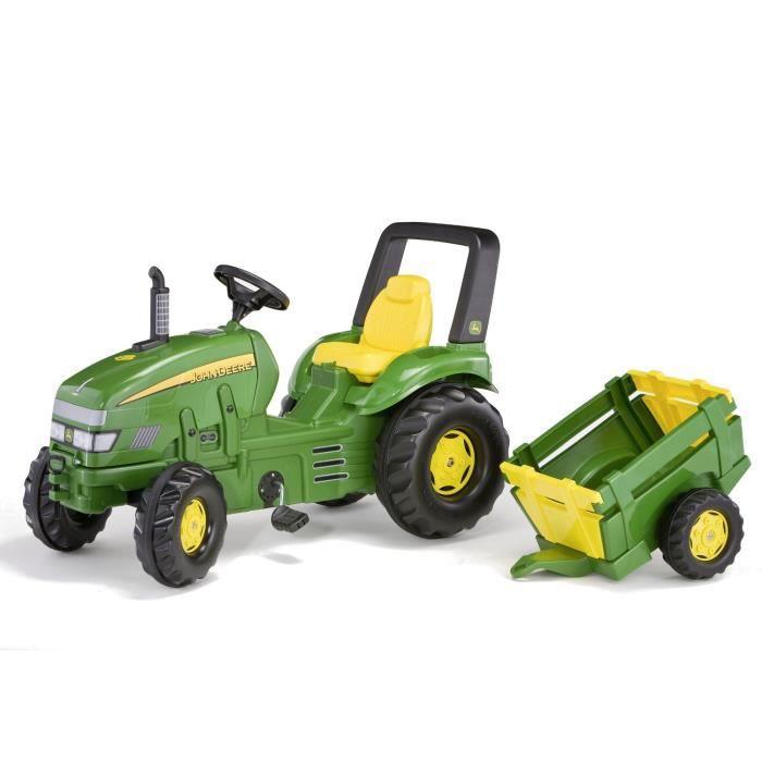 ROLLY TOYS Tracteur à pédales John Deere + remorque