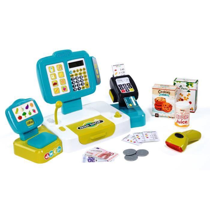 Smoby Toys, 350105, Grande Caisse Enregistreuse, 27 Accessoires Dont Vraie Calculatrice EX8K2