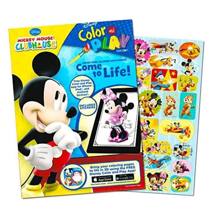 Jeu De Coloriage P7ysw Mickey Mouse 144 Page Coloring And Activity Book With Over 30 Stickers Achat Vente Jeu De Coloriage Dessin Pochoir Cdiscount