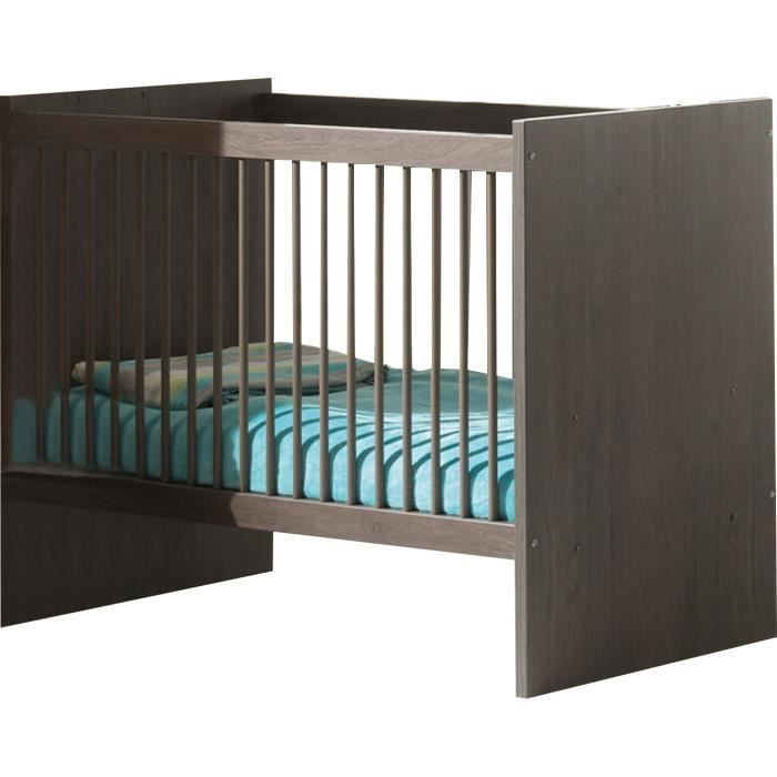 lit b b transformable contemporain coloris ch ne bergerac achat vente lit evolutif cdiscount. Black Bedroom Furniture Sets. Home Design Ideas