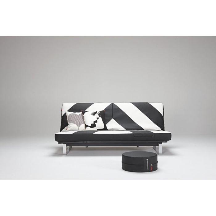 Canape lit design minimum noir et blanc clic clac achat for Canape lit design
