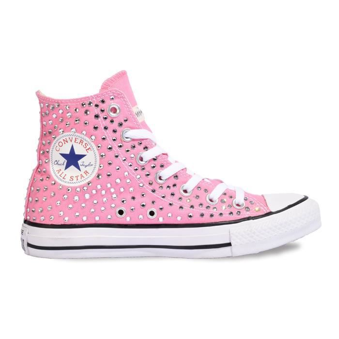 CONVERSE FEMME H06FUNO0900 ROSE COTON BASKETS MONTANTES