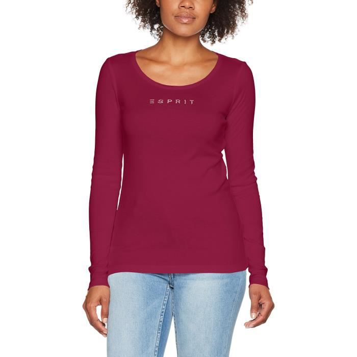 Esprit T-shirt à Manches Longues Femme 1RWS7