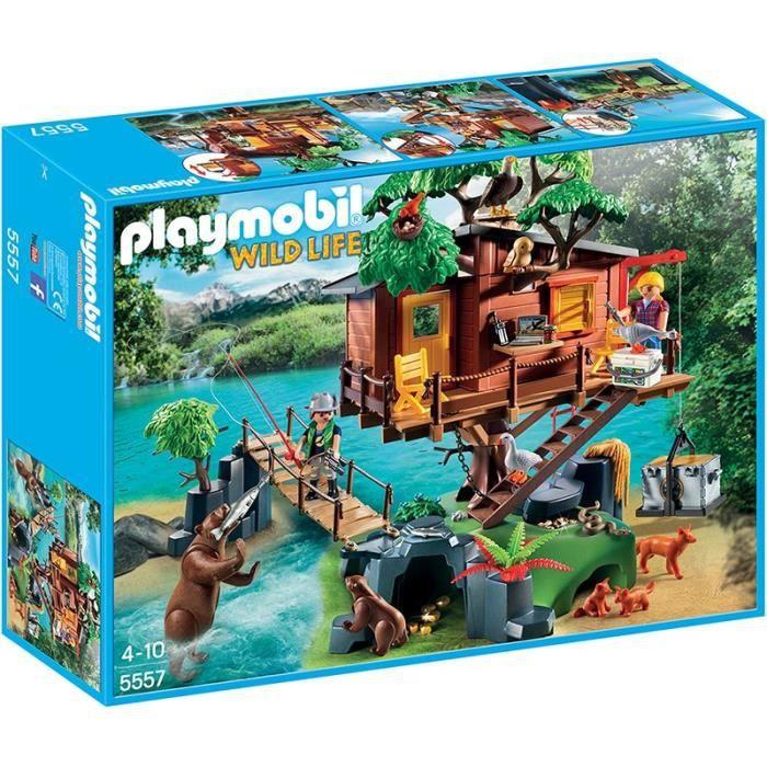 Photo de playmobil-5557-wild-life-cabane-des-aventuriers-dans-les-arbres
