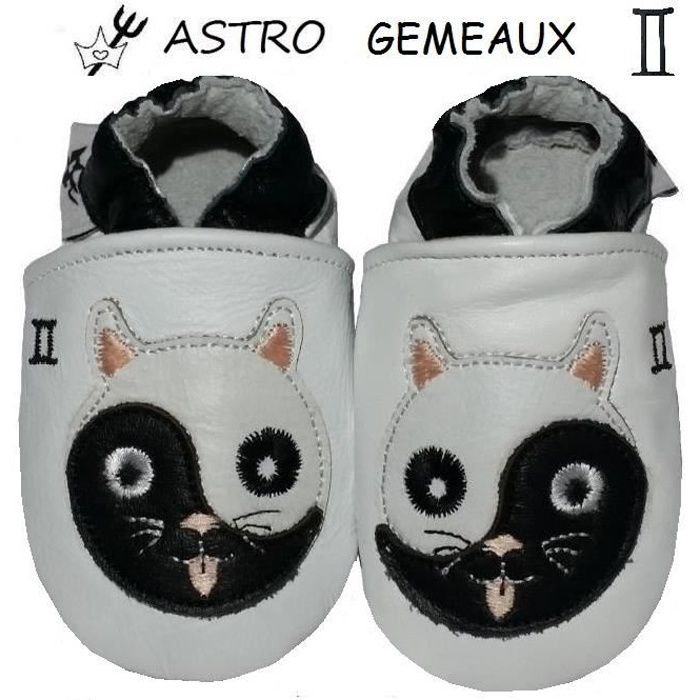 CHAUSSONS CUIR ASTRO BEBE 6-12 MOIS