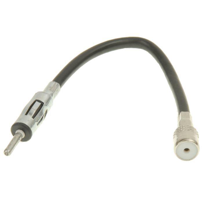CÂBLE TV - VIDÉO - SON Câble adaptateur d'antenne iso autoradio : DIN : S