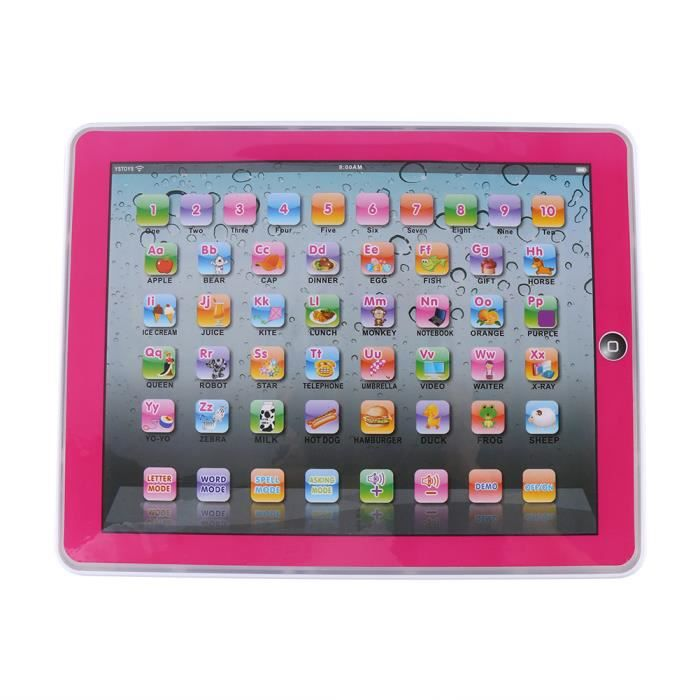 Tablette D Apprentissage Touch écran Tablette éducative Anglaise Rose