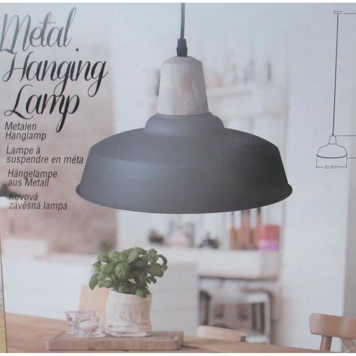 suspension lampe plafonnier industriel en metal suspendue. Black Bedroom Furniture Sets. Home Design Ideas