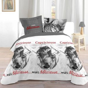 parure de lit chat achat vente parure de lit chat pas cher cdiscount. Black Bedroom Furniture Sets. Home Design Ideas
