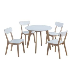 Table ronde 4 chaises achat vente table ronde 4 for Ensemble table ronde et 4 chaises