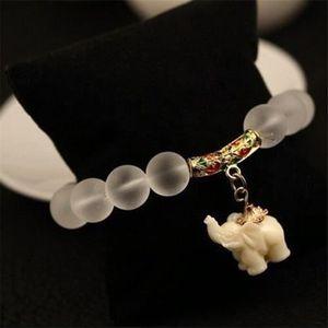 BRACELET - GOURMETTE Bracelet vintage de perles givrées de femmes pende