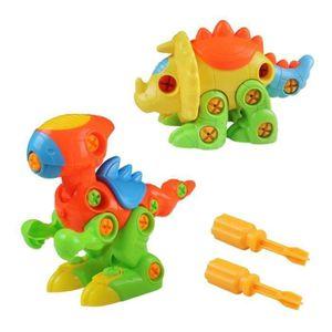 ASSEMBLAGE CONSTRUCTION Dinosaures Enfant Jouet de Construction Puzzle Jeu