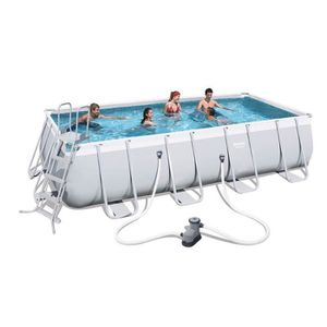 PISCINE BESTWAY Kit Piscine tubulaire rectangulaire L5,49