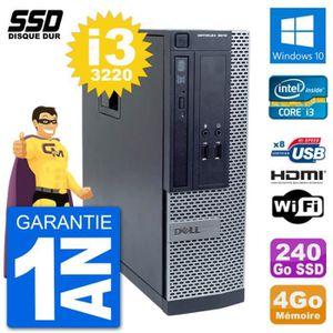 ORDI BUREAU RECONDITIONNÉ PC Dell OptiPlex 3010 SFF Intel i3-3220 RAM 4Go SS