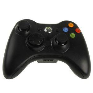MANETTE JEUX VIDÉO Manette sans fil 2.4GHz Xbox 360 (Black-Noir)