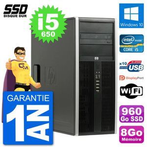 ORDI BUREAU RECONDITIONNÉ PC Tour HP 8100 Elite Intel Core i5-650 RAM 8Go SS
