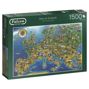 PUZZLE JUMBO Puzzle 1500 FALCON - Map of Europe