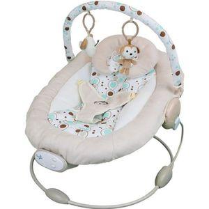 TRANSAT Transat bébé vibrant et musical + Barre à jouets e