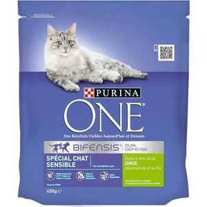 CROQUETTES Purina One Croquettes Chat Sensible Dinde 450g (lo