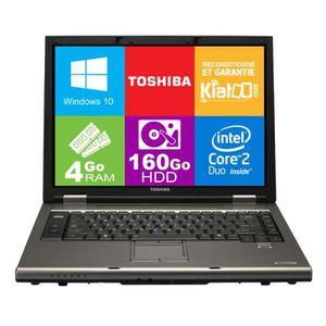 Top achat PC Portable ordinateur portable 15 pouces TOSHIBA TECRA A9 core 2 duo,4 go ram 160 go disque dur,windows 10 pas cher