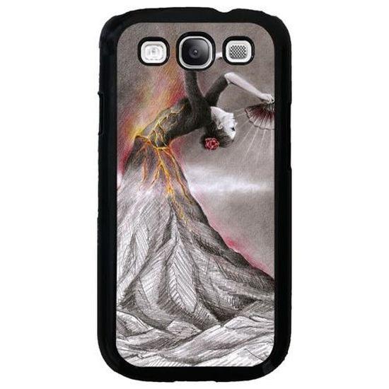 Coque pour Samsung Galaxy S3 (GT-I9300) - Volcan Dansant ...