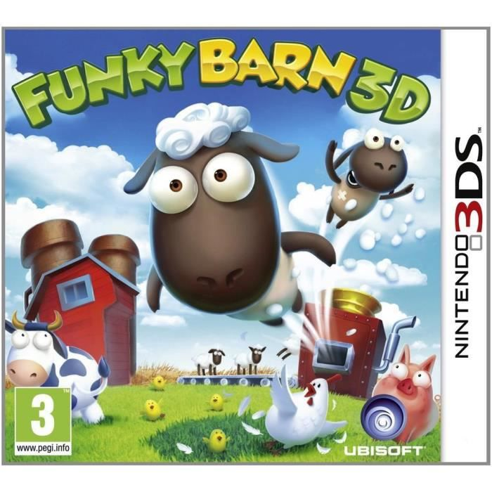 funky barn 3d jeu 3ds achat vente jeu 3ds funky barn 3d jeu 3ds cdiscount. Black Bedroom Furniture Sets. Home Design Ideas