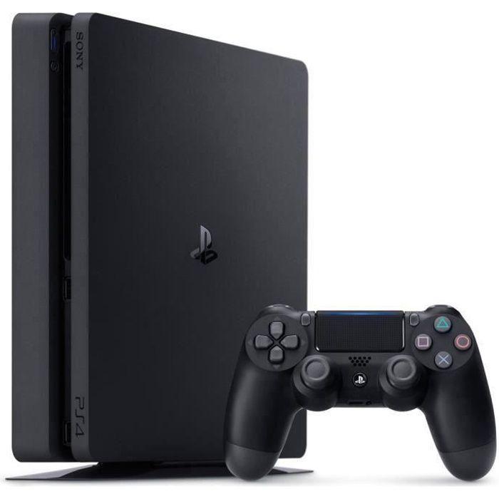 CONSOLE PS4 Console PS4 Slim 500Go Noire/Jet Black - Châssis F