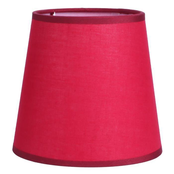E14 Abat-jour lustre en tissu pur couleur pour applique murale chevet housse pour lampe de table(Rouge)-COL